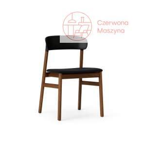 Krzesło tapicerowane Normann Copenhagen Herit smoked oak black