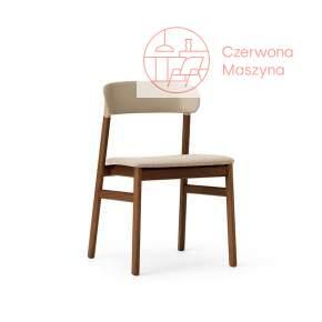 Krzesło tapicerowane Normann Copenhagen Herit smoked oak sand