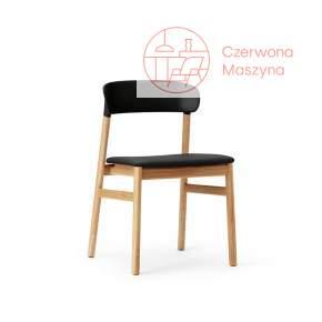 Krzesło tapicerowane Normann Copenhagen Herit oak leather black