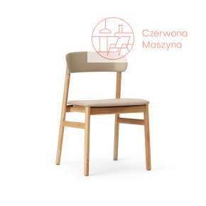 Krzesło tapicerowane Normann Copenhagen Herit oak leather sand