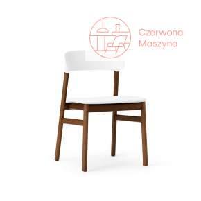 Krzesło tapicerowane Normann Copenhagen Herit smoked oak leather white