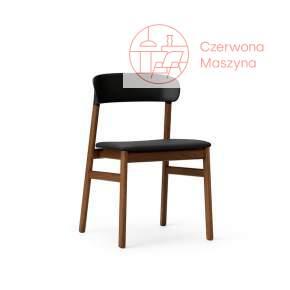 Krzesło tapicerowane Normann Copenhagen Herit smoked oak leather black
