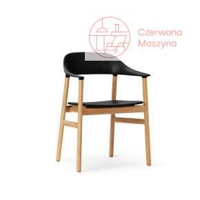 Krzesło z podłokietnikiem Normann Copenhagen Herit oak black