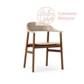 Krzesło z podłokietnikiem Normann Copenhagen Herit smoked oak sand