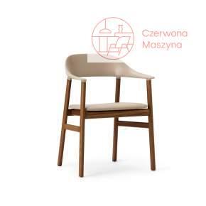 Krzesło z podłokietnikiem tapicerowane Normann Copenhagen Herit smoked oak sand