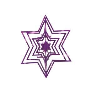 Zawieszka na choinkę Philippi Star Ø 10 cm, purpurowa