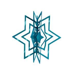 2 Zawieszki na choinkę Philippi Star Ø 6 cm, niebieskie