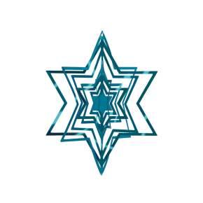 Zawieszka na choinkę Philippi Star Ø 10 cm, niebieska