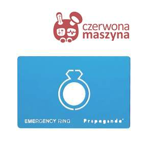 Pierścionek awaryjny Propaganda Emergency Ring Blue