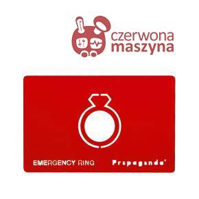 Pierścionek awaryjny Propaganda Emergency Ring Red