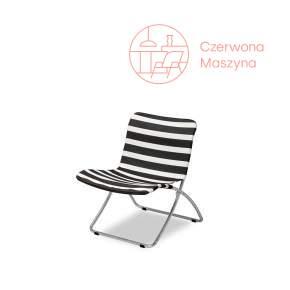 Składane krzesło Skagerak Lise w czarne pasy