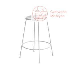 Krzesło barowe OK Design Acapulco 66 cm, białe z białymi nóżkami