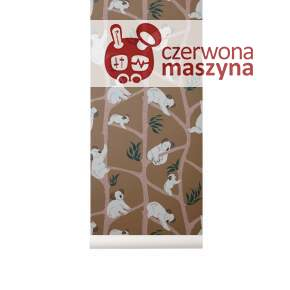 Tapeta ferm LIVING Koala Wallpaper, mustard