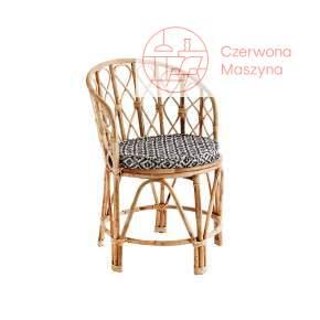 Bambusowe krzesło z poduszką Madam Stoltz, natural
