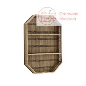 Bambusowa półka ścienna Madam Stoltz, dark brown