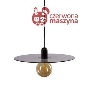 Lampa wisząca Bolia Flachmann Large black chrome/smoke grey