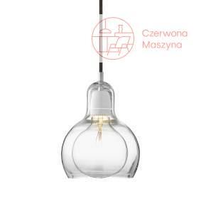Lampa &tradition Mega Bulb SR2, przezroczysta z czarnym zawieszeniem