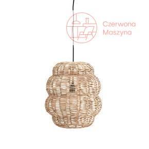Lampa wisząca z bambusa Madam Stoltz, jasne drewno
