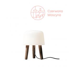 Lampa stołowa &tradition Milk NA1 ciemne drewno