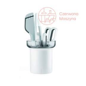 Zestaw narzędzi kuchennych z pojemnikiem Guzzini My Kitchen, szare