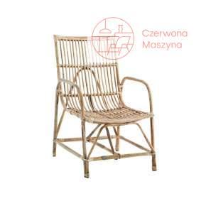 Krzesło bambusowe Madam Stoltz, jasne drewno