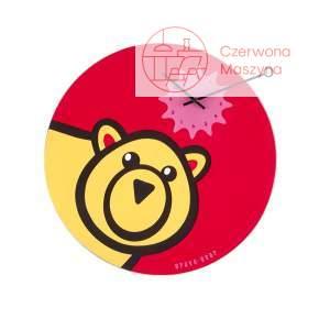 Zegar ścienny NeXtime czerwony Bravo Bear