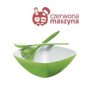 Miska z łyżkami do sałaty Guzzini Vintage zielona