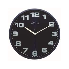 Zegar ścienny NeXtime Dash Ø 35 cm, granatowy