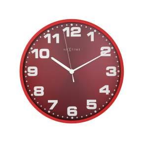 Zegar ścienny NeXtime Dash Ø 35 cm, czerwony