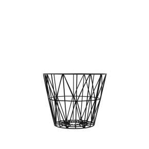 Kosz wielofunkcyjny ferm LIVING Wire Ø 50 cm, czarny