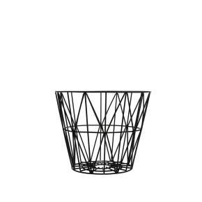 Kosz wielofunkcyjny ferm LIVING Wire Ø 60 cm, czarny