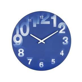 Zegar ścienny NeXtime 3D Ø 39 cm, niebieski