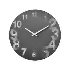 Zegar ścienny NeXtime 3D Ø 39 cm, szary