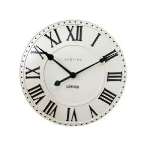 Zegar ścienny NeXtime London Roman Ø 34,5 cm, kremowy