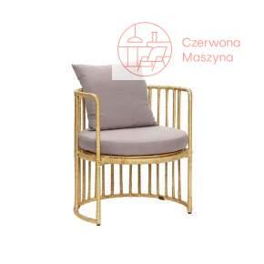 Rattanowe krzesło z poduszkąHübsch, szare