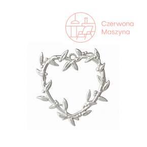 Zawieszka serce z jemioły Rosendahl Karen Blixen h 7 cm, srebrna