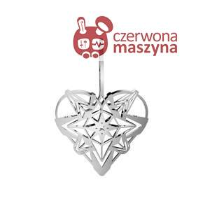 Zawieszka świąteczna Heart Rosendahl Karen Blixen 25 cm, srebrna