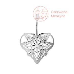 Zawieszka świąteczna Heart Rosendahl Karen Blixen 12 cm, srebrna