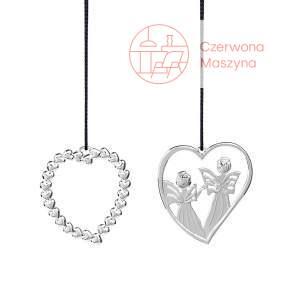 2 zawieszki świąteczne Serce i Anioły Rosendahl Karen Blixen srebrna