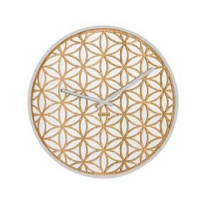 Zegar ścienny NeXtime Bella Mirror Ø 50 cm, złoty