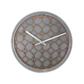 Zegar ścienny NeXtime Concrete Love Ø 39, cm, szary