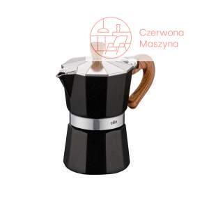 Kawiarka Cilio Classico 150 ml czarna/drewniany wzór