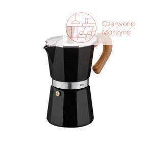 Kawiarka Cilio Classico 300 ml czarna/drewniany wzór