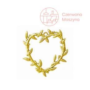 Zawieszka serce z jemioły Rosendahl Karen Blixen h 7 cm, złota