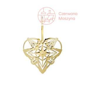 Zawieszka świąteczna Heart Rosendahl Karen Blixen 12 cm, złota