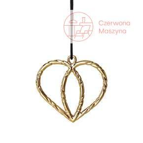 Zawieszka podwójne serce Rosendahl Karen Blixen h 7 cm, złota