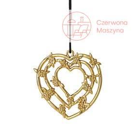 Zawieszka świąteczna Heart garland Rosendahl Karen Blixen złota