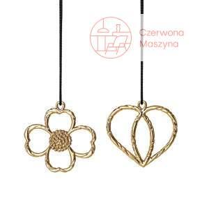 2 Zawieszki świąteczne Heart & Butercup Rosendahl Karen Blixen złote