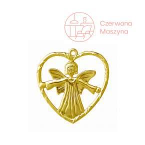 Dekoracja Rosendahl Karen Blixen Angel in heart, złota