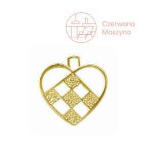 Zawieszka Rosendahl Karen Blixen Heart h 7,5 cm, złota